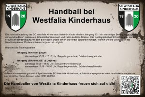 Handball in Kinderhaus
