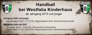 Handball in Kinderhaus HP